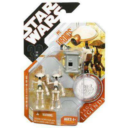 Star Wars The Phantom Menace Saga Legends 2007 30th Anniversary Pit Droids Action Figure 2-Pack #24 [Gray]