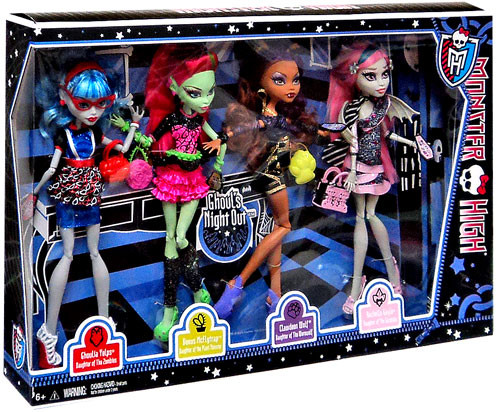 Monster High Ghoul's Night Out 10.5-Inch Doll 4-Pack