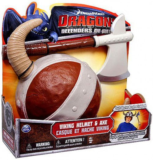 How to Train Your Dragon Dragons Defenders of Berk Viking Helmet & Axe Exclusive Roleplay Toy