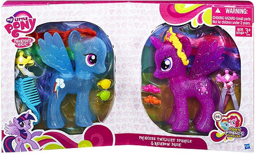 My Little Pony Friendship is Magic Pony Friends Forever Princess Twilight Sparkle & Rainbow Dash Exclusive Figure 2-Pack