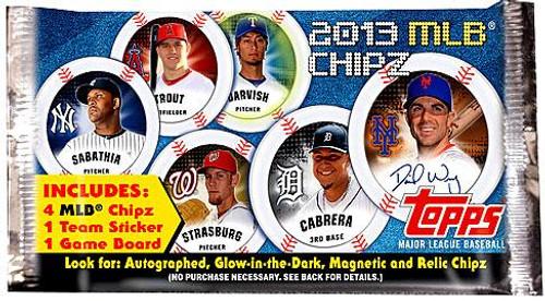 2013 MLB Chipz 2013 Chipz Booster Pack
