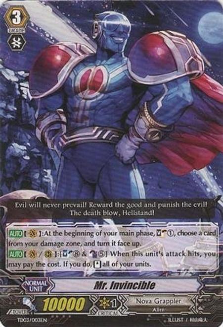 Cardfight Vanguard Infinite Phantom Legion Common Mr. Invincible EB04/016