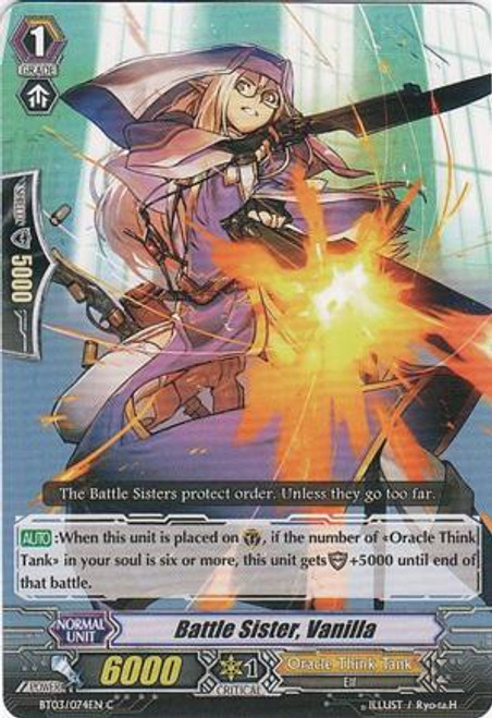 Cardfight Vanguard Celestial Valkyries Common Battle Sister, Vanilla EB05/025