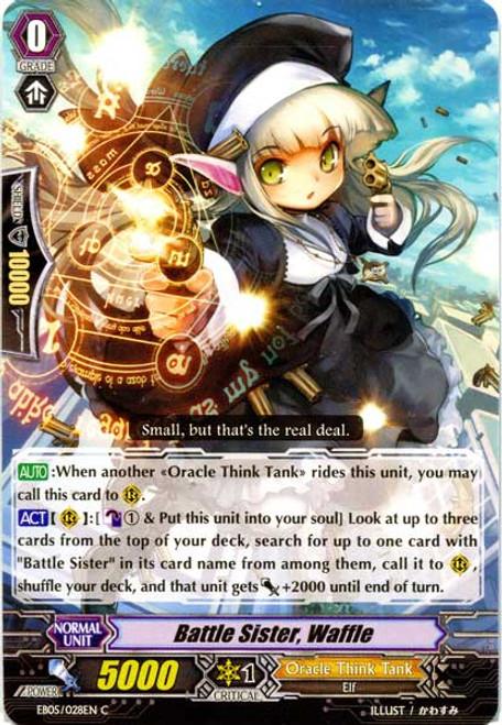 Cardfight Vanguard Celestial Valkyries Common Battle Sister, Waffle EB05/028