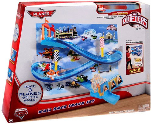 Disney Planes Micro Drifters Wall Race Track Set Exclusive