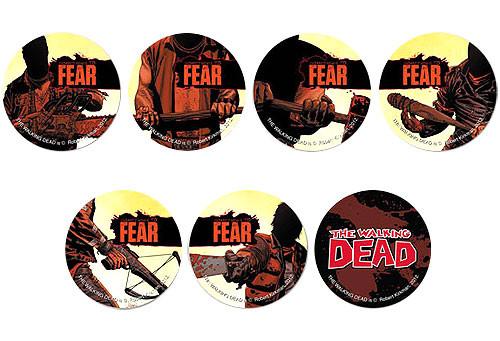 Walking Dead Comic Set of 7 Promo Buttons