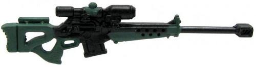 GI Joe Loose Weapons 50 Cal. Sniper Rifle Action Figure Accessory [Black & Green Loose]