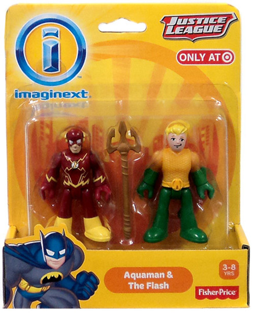 Fisher Price DC Super Friends Justice League Imaginext Aquaman & Flash Exclusive 3-Inch Mini Figures