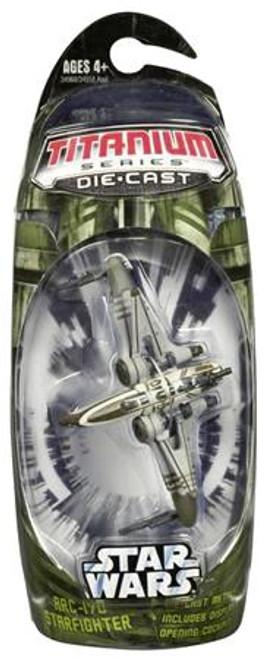 Star Wars The Clone Wars Titanium Series 2006 ARC-170 Starfighter Diecast Vehicle [Green Trim]