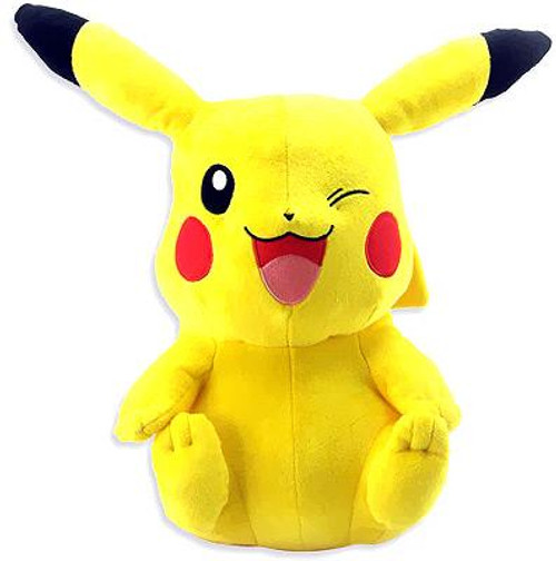 Pokemon Black & White 18 Inch Deluxe Pikachu Plush [Sitting & Winking]