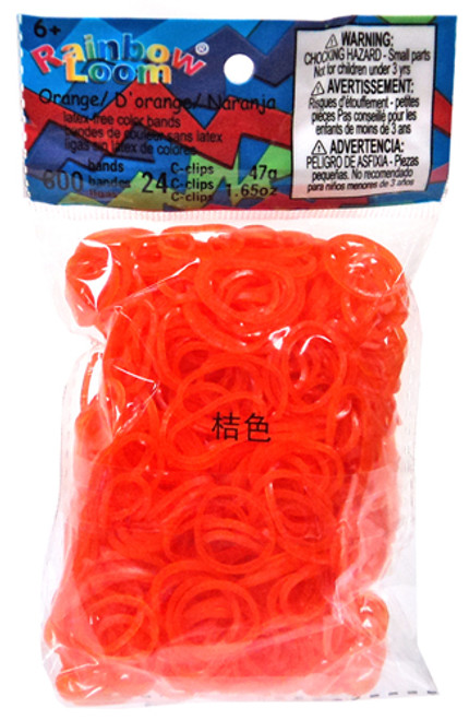 Rainbow Loom Jelly Orange Rubber Bands Refill Pack RL6 [600 ct]