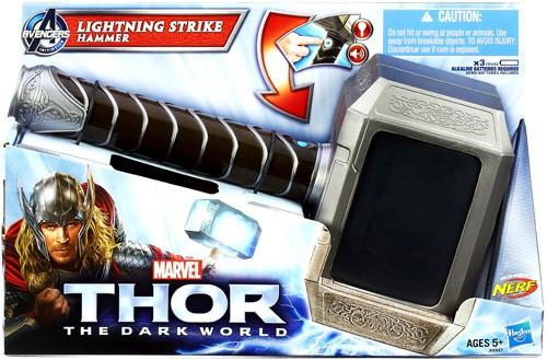 The Dark World Thor Lightning Strike Hammer Roleplay Toy