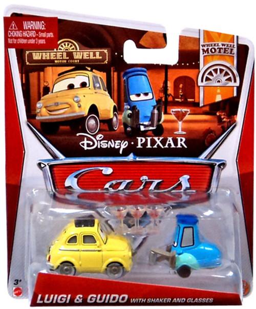 Disney Cars Series 3 Luigi & Guido with Shaker & Glasses Diecast Car 2-Pack