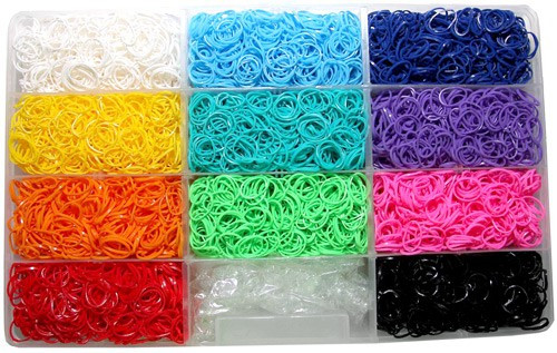 Rainbow Loom Rubber Band Bracelet Kit [6,600 Bands]