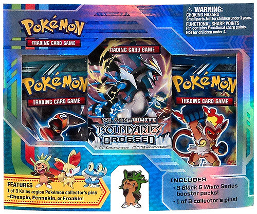 Pokemon Black & White Boundaries Crossed Chespin Pin Pack