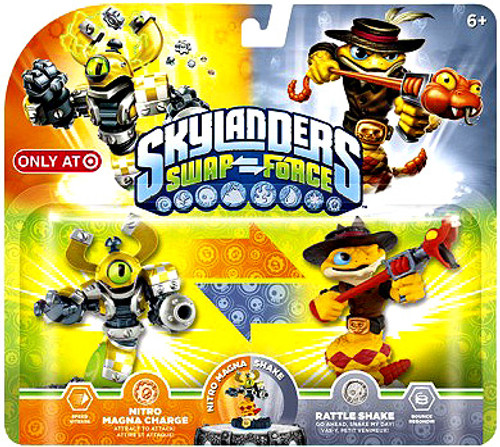Skylanders Swap Force Swappable Nitro Magna Charge & Rattle Shake Exclusive Figure 2-Pack