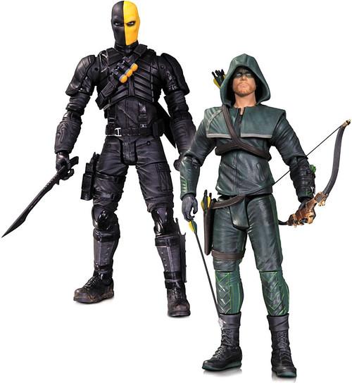 DC Arrow Oliver Queen & Deathstroke Action Figure 2-Pack