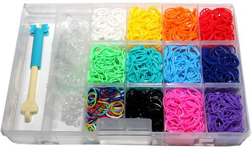 Rainbow Loom Rubber Band Bracelet Kit [3,900 Bands]