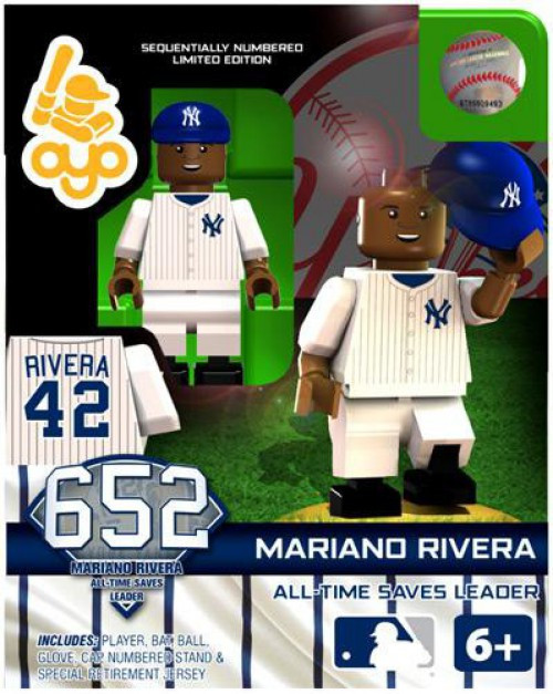 New York Yankees MLB Generation 2 Limited Edition Mariano Rivera Minifigure [All-Time Saves Leader]