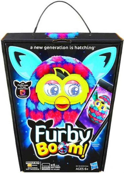 Furby Boom! Blue & Pink Hearts Figure