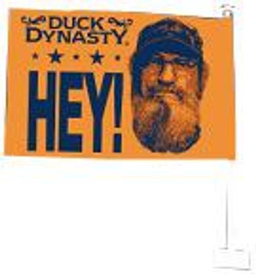 """Duck Dynasty Si """"HEY!"""" Car Flag"""