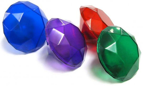 Sonic The Hedgehog Loose Set of 4 Light-Up Chaos Emeralds 1 1/2-Inch Accessory [Loose]