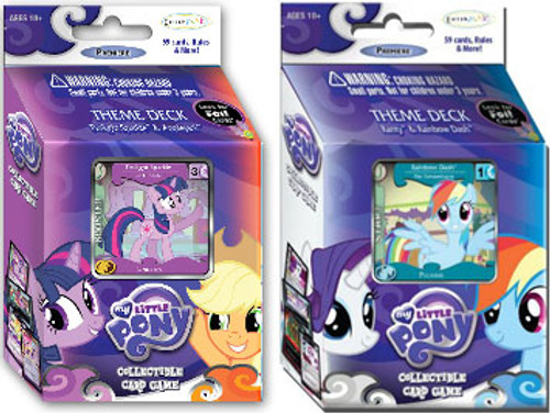 My Little Pony Collectible Card Game Premiere Set of Both Theme Decks