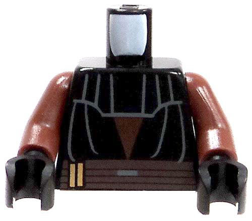 LEGO Star Wars The Clone Wars Minifigure Parts Dark Brown Torso with Black Tunic & Upper Chest Protection Loose Torso [Loose]