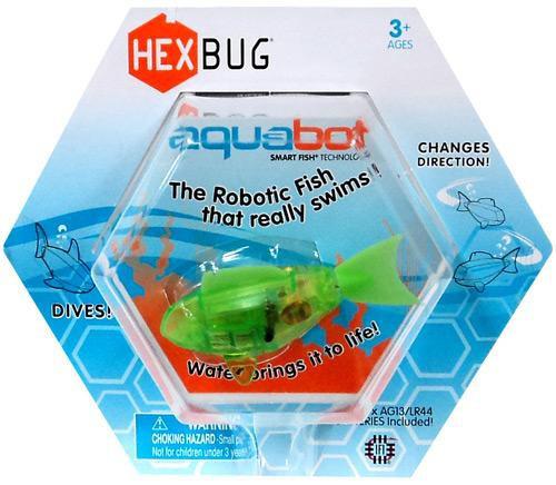 Hexbug Aquabot Green Fish 3-Inch Electronic Pet