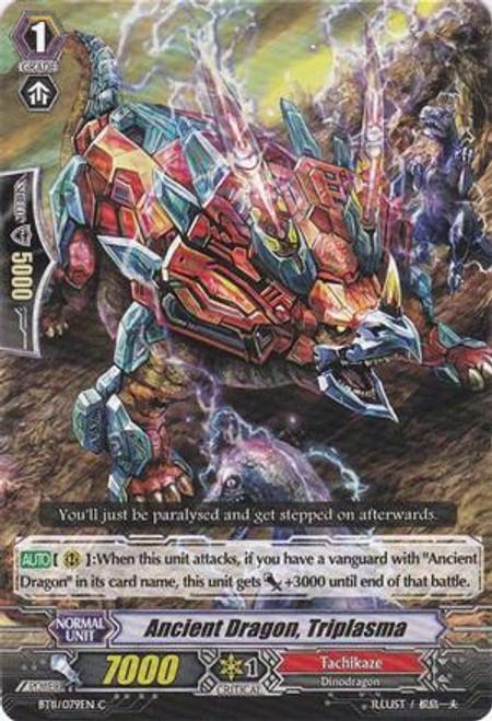 Cardfight Vanguard Seal Dragons Unleashed Common Ancient Dragon, Triplasma BT11/079