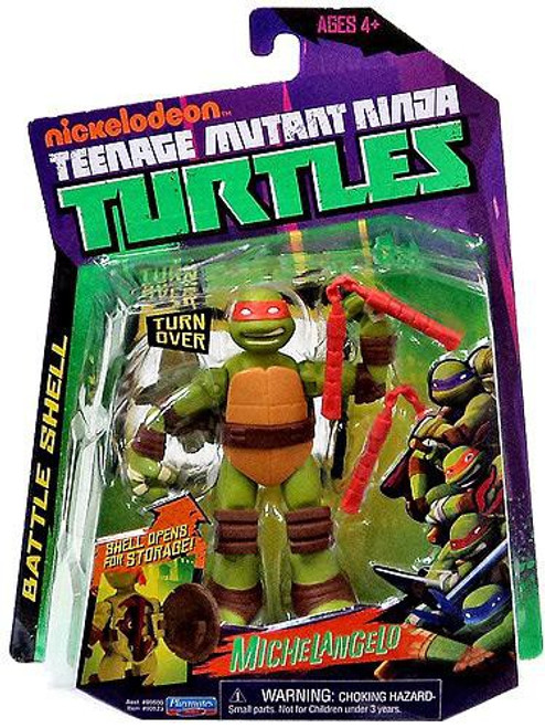 Teenage Mutant Ninja Turtles Nickelodeon Battle Shell Michelangelo Action Figure