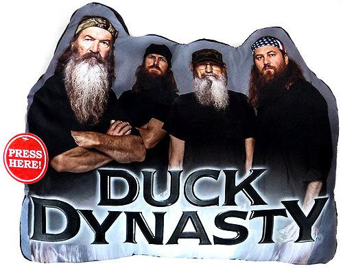 Duck Dynasty Die Cut 16-Inch x 13-Inch Pillow [With Sound]