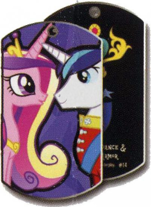 My Little Pony Friendship is Magic Dog Tags Princess Cadance & Shining Armor Dog Tag #14 [Loose]