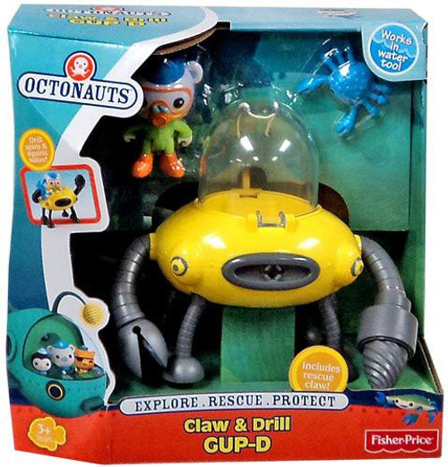 Fisher Price Octonauts Mission Vehicle Claw & Drill GUP-D Playset
