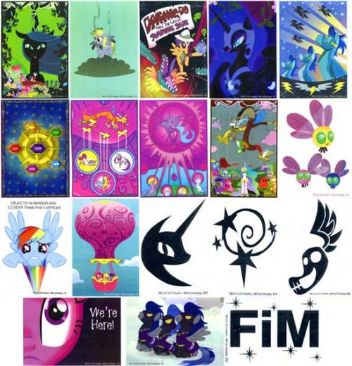 Friendship is Magic Dog Tags My Little Pony Set of 18 Decal Cards [Loose]