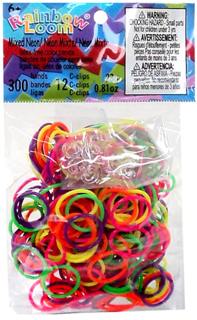 Rainbow Loom Mixed Neon Rubber Bands Refill Pack RL34 [300 ct]