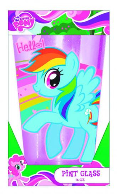 My Little Pony 16 oz Boxed Glitter Pint Glass