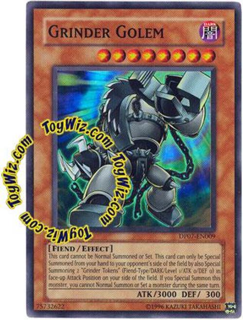 YuGiOh GX Duelist Pack Jesse Anderson Super Rare Grinder Golem DP07-EN009