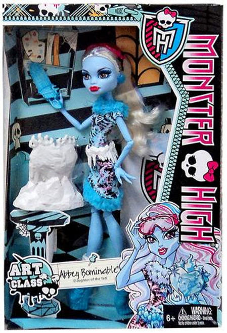 Monster High Classroom Art Class Abbey Bominable 10.5-Inch Doll