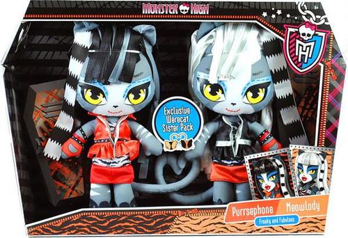 Monster High Purrsephone & Meowlady Exclusive Plush Dolls