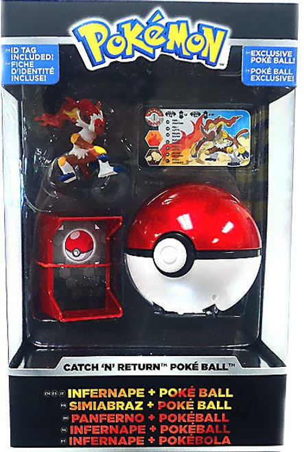 Pokemon TOMY Catch n Return Pokeball Infernape & Poke Ball Trainer's Choice Figure