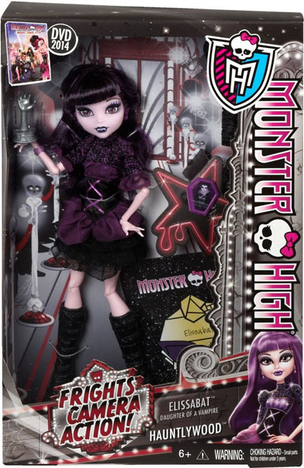 Monster High Frights, Camera, Action Hauntlywood Elissabat 10.5-Inch Doll