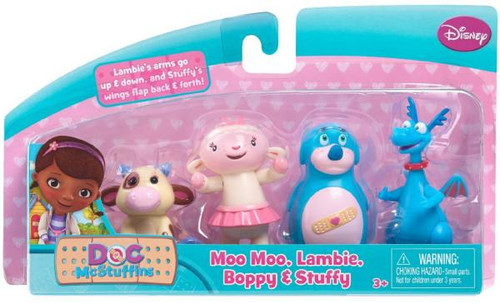 Disney Doc McStuffins Moo Moo, Lambie, Boppy & Stuffy Exclusive Action Figure 4-Pack