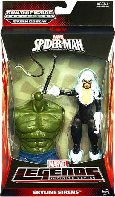 The Amazing Spider-Man 2 Marvel Legends Infinite Series Green Goblin Black Cat Action Figure [Skyline Sirens]