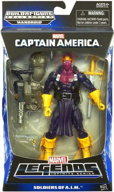 Captain America Marvel Legends Infinite Series Mandroid Baron Zemo Action Figure [Soldiers of A.I.M.]