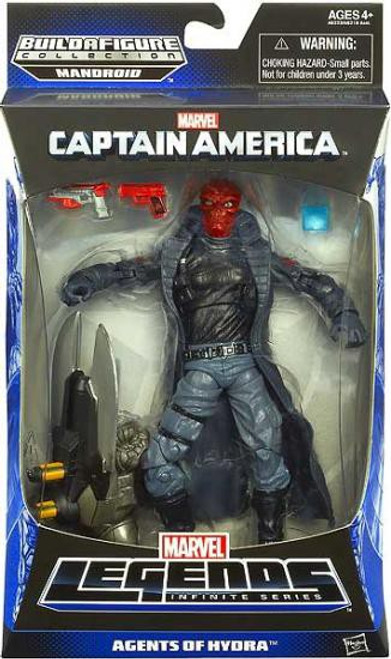 Captain America Marvel Legends Infinite Series Mandroid Red Skull Action Figure [Agents of Hydra]