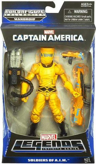 Captain America Marvel Legends Infinite Series Mandroid AIM Soldier Action Figure [Yellow Suit - Soldiers of A.I.M.]
