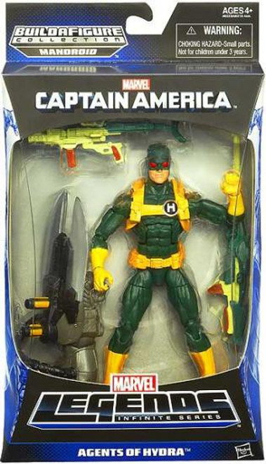 Captain America Marvel Legends Infinite Series Mandroid Hydra Soldier Action Figure [Green & Yellow Suit - Agents of Hydra]