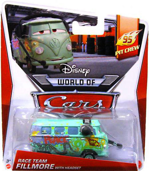Disney Cars The World of Cars Series 2 Fillmore with Headset Diecast Car #1 of 5
