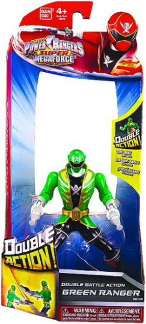 Power Rangers Super Megaforce Double Battle Action Green Ranger Action Figure